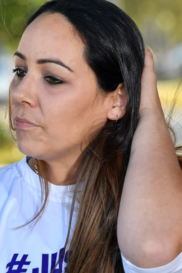 Cindy Palmer, the mother of slain schoolgirl Tiahleigh.
