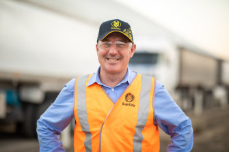 GrainCorp chief executive Robert Spurway pictured at a GrainCorp site in Moree, New South Wales, during the 2020 harvest.