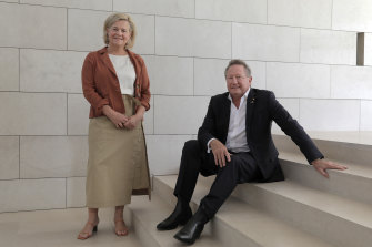 RM Williams-wearing Andrew Forrest with his wife Nicola in Perth.
