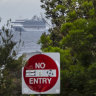 The controversial Ruby Princess off Botany Bay on Thursday.