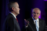 Leaders' debate with Prime Minister Scott Morrison and Opposition Leader Bill Shorten.