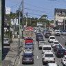 Traffic snarls on Parramatta Road.
