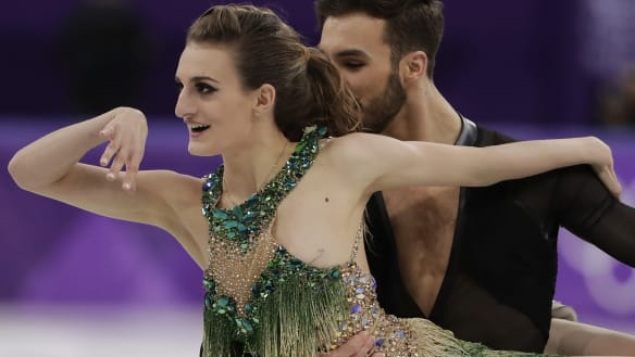 'I felt it and I prayed': wardrobe malfunction can't derail French skater
