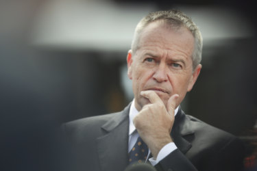Opposition Leader Bill Shorten in Canberra.