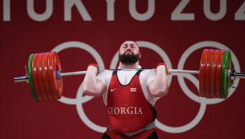 Did this Georgian giant win the last-ever Olympic weightlifting gold medal?