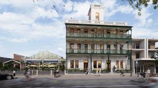 Billionaire Paul Little is renovating of the Portarlington Grand Hotel.