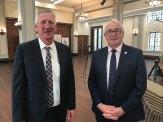 Denis Wagner and Toowoomba mayor Paul Antonio.