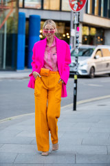 German blogger Leonie Hanne embraces the clash in London.
