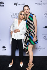 Cut from the same cloth ... Bianca Spender (right) with her mother, designer Carla Zampatti.