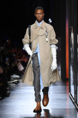 Long gloves were a staple at Dior Homme.