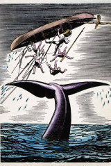 Woodcut from the novel Moby-Dick by Herman Melville.