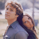 Ali MacGraw with her Love Story co-star Ryan O'Neal.