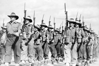 The 7th Division of the Australian Imperial Force, 1944.