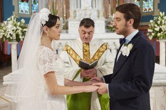 Angela (Antoinette Iesue) and Robert (Daniel Berini) seem destined for each other in Promised.