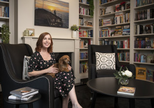 Lisa Fleetwood of Cranebrook is so passionate about books that she designed a custom library in her home.