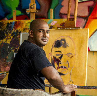 Quilty's friend and protégé, the late Bali Nine kingpin Myuran Sukumaran, in Kerobokan jail, Bali.