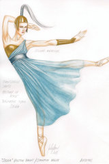 Jerome Kaplan's sketch for Artemis.
