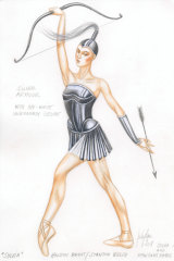 Designer Jerome Kaplan's sketch for Sylvia and the nymphs.