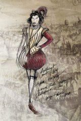 Un des dessins de costumes de Gabriela Tylesova pour Shakespeare in Love.