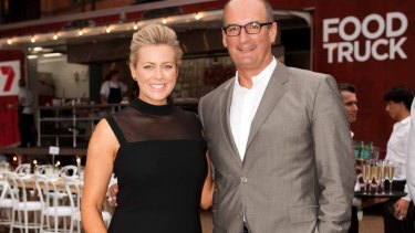 Samantha Armytage with her co-host, David Koch.