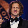 'Bit surreal': Fremantle Docker Nat Fyfe wins second Brownlow Medal