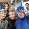 Part-time superheroes in hilarious fight against evil