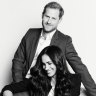 Portrait of Prince Harry and Meghan Duchess of Sussex to promote their Time100 talk. Photo: Matt Sayles