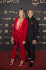 Best dressed at the Dally M ... Kate Daly (left) and Ali Brigginshaw.