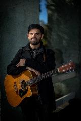 Melbourne musician and busker Simon Paparo.