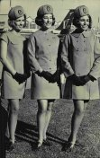 The new uniform for Qantas Airways  hostesses was on display for the first time at Sydney Airport on June 13, 1969.