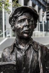 The James Martin statue in Parramatta by sculptor Alan Somerville.