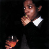 Jean-Michel Basquiat captured by Maripol on Polaroids.