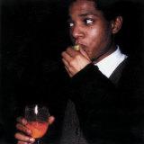 Jean-Michel Basquiat captured by Maripol on Polaroids.