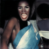 A Polaroid of Grace Jones from the early 1980s.