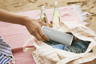 The Sonos Roam can stand vertically or lay flat, is protected against the elements and sounds great.