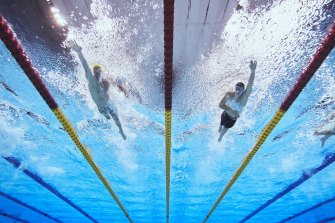 Brenden Hall has missed out on a medal in the Men's 400m freestle S9.