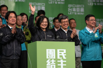 Newly re-elected Taiwan President Tsai Ing-wen was uncharacteristically bullish about China following her election victory.