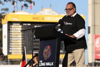 Michael Long speaks ahead of the Long Walk, held in Perth this month.