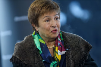 IMF chief Kristalina Georgieva says the global economy now in a multi-speed recovery increasingly powered by two engines - the United States and China - while other countries fall behind.