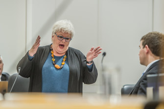 Opposition health spokeswoman Vicki Dunne argued Health Minister Meegan Fitzharris was failing in her duties to taxpayers.