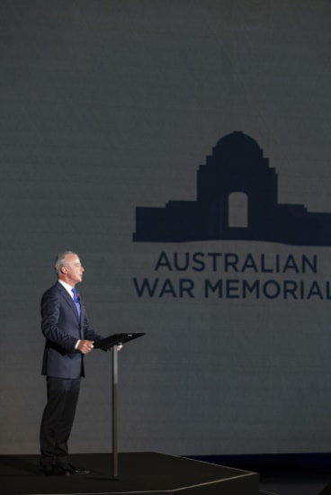 Australian War Memorial director Dr Brendan Nelson has announced nearly $500 million in funding to upgrade the institution.