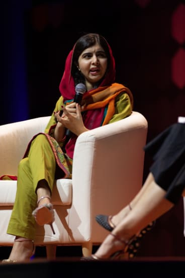 Malala Yousafzai on Monday night.