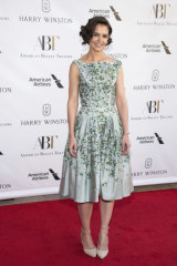 Calming ... Katie Holmes wears green to the American Ballet Theatre Spring Gala.