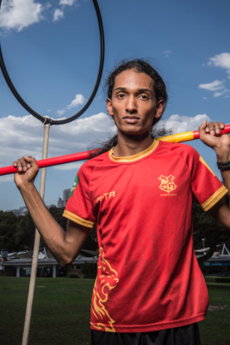 "Quidditch player Ajantha Abey, 22, says the Harry Potter series helped shape his values: ""You learn from those characters to be unafraid of who you are."""