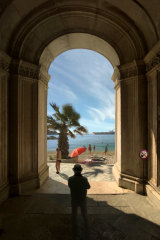 'Luxury Escape' is reminiscent of Magritte.