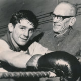 A young Famechon with trainer Charlie Burgess
