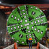 One of the tunnel boring machines being constructed under the future Anzac Station on St Kilda Road.