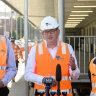 Yet another hi-vis photo opportunity for Premier Daniel Andrews and Transport Minister Jacinta Allan.
