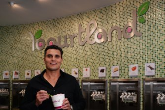 Grand Plans: Newcastle accountant Paul Siderovski brought Yogurtland to Australia with plans to open 50 stores in five years.