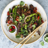 Neil Perry's black pepper chilli beef and asparagus